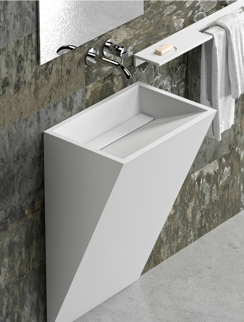 Lavabo de pie en Solid Surface DOVER